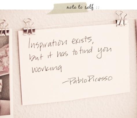 inspiration picasso quote