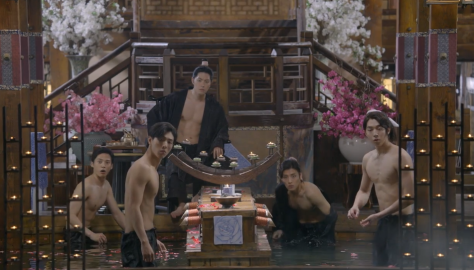 scarlet heart bath kang ha neul shirtless