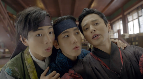 scarlet heart boys looking fourth wall