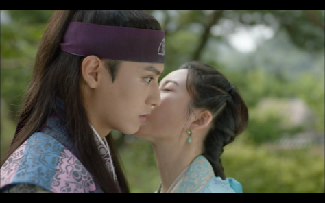 hwarang kiss on cheek ep13