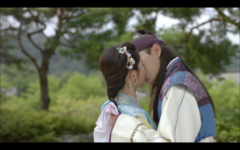 hwarang ep13 kiss