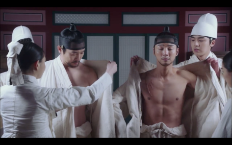 grand prince yoon si yoon ep1 shirtless abs sageuk