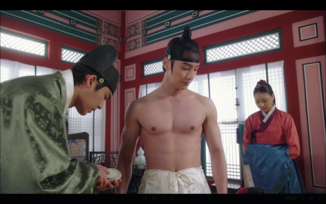 yoon si yoon shirtless abs grand prince ep3