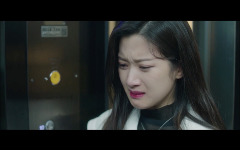 moon ga young ep19 cries elevator